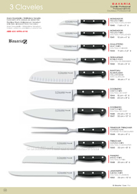 CHEF KNIVES BAVARIA 3 Claveles