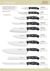 KITCHEN KNIVES DOMWS 3 Claveles