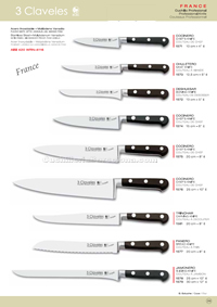 KITCHEN KNIVES FRANCE 3 Claveles