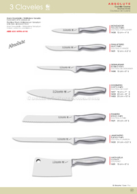 KITCHEN KNIVES ABSOLUTE 3 Claveles