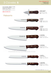 KITCHEN KNIVES PALOSANTO 3 Claveles