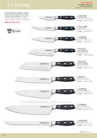 KITCHEN KNIVES TOLEDO 3 Claveles
