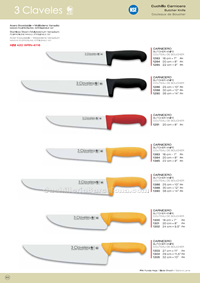 BUTCHER KNIVES 3 Claveles