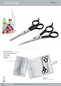 HAIRDRESSING SCISSORS SET RELAX 3 Claveles