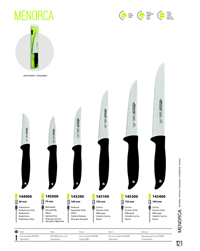 KITCHEN KNIVES MENORCA Arcos