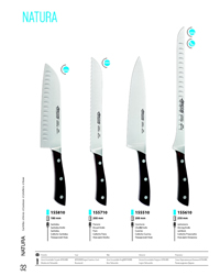 KITCHEN KNIVES NATURA Arcos