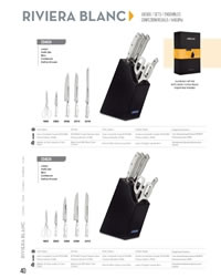 SET KNIVES RIVIERA WHITE Arcos