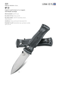 POCKETKNIVES  531 Benchmade