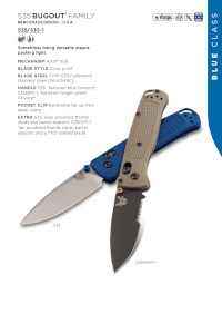 POCKETKNIVES  BUGOUT  Benchmade