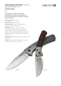 COUTEAUX POCHE CROOKED RIVER Benchmade