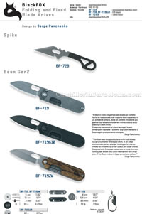 SPIKE KNIVES BEAN GEN 2 FOLDING KNIVES Blackfox
