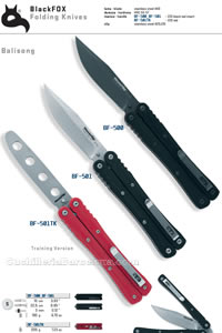 BALISONG FOLDING KNIVES Blackfox
