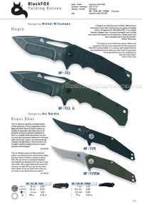 HUGIN KRAVI SHAI FOLDING KNIVES Blackfox