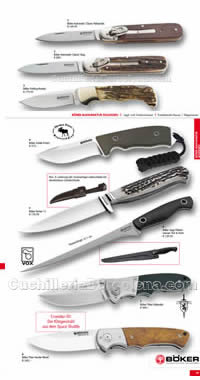 HUNTING KNIVES AND POCKETKNIVES BOKER