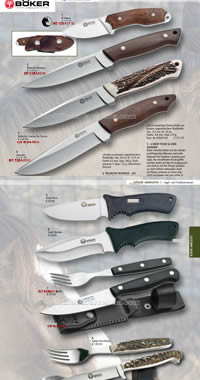 MOUNTAIN AND TABLE KNIVES BOKER