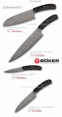 KITCHEN KNIVES DAMASCUS PURE BOKER