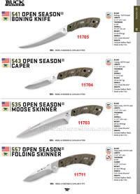 OPEN SEASON KNIVES AND FOLDING KNIVES Buck