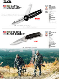 ALPHA CROSSLOCK HUNTER FOLDING KNIVES Buck