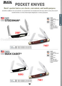 STOCKMAN BUCK CADET FOLDING KNIVES Buck