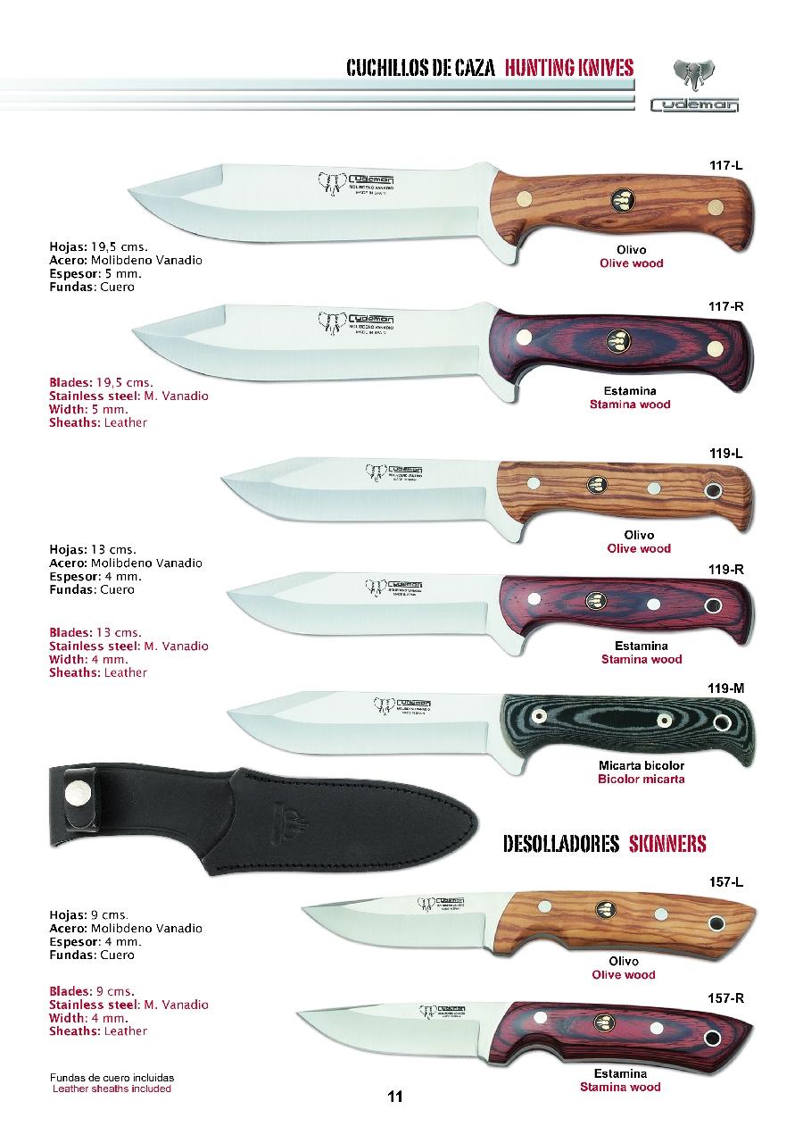 Cuchillos de caza 10 cudeman for Clases de cuchillos de mesa