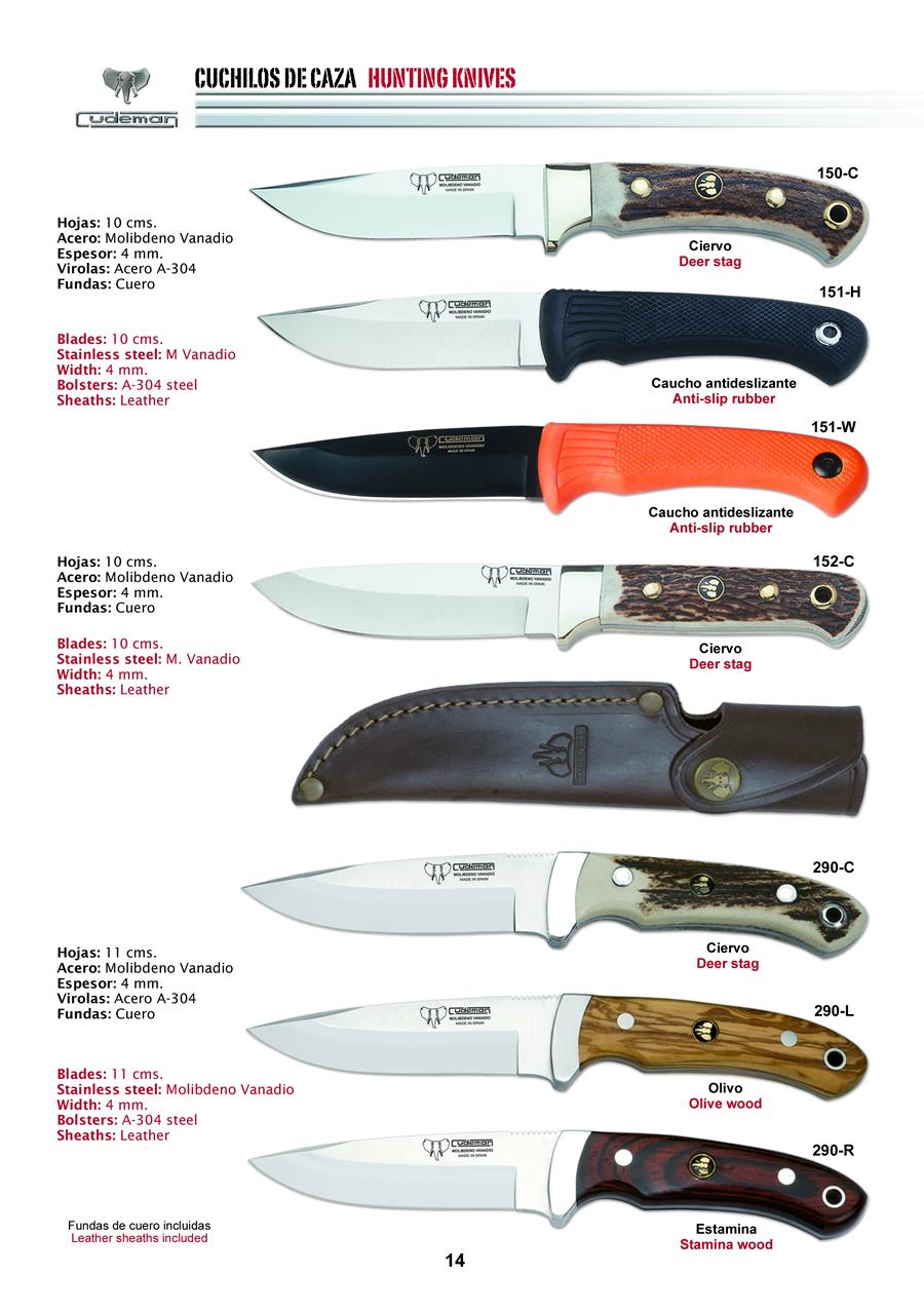 Cuchillos de caza 8 cudeman - Fundas para cuchillos de cocina ...