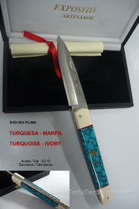 COUTEAUX SVD 503 TURQUOISE  IVOIRE Exposito