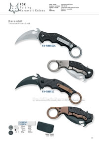 COLTELLI  TATTICI KARAMBIT Fox