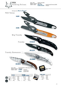 TWICE TRENDY TACTICAL FOLDING KNIVES  Fox