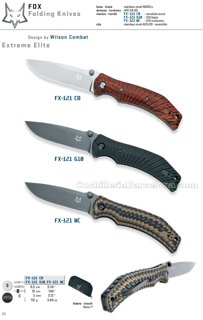 19,0 cm multicolor Fox Knives