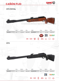 CARBINES AIR COMPRIME 008 Gamo