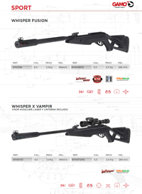 COMPRESSED AIR CARBINES 016 Gamo