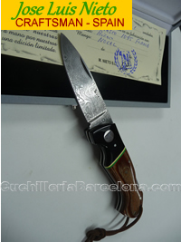 FOLDING KNIFE CRAFSTMAN DAMASCUS JLNieto