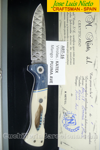 FOLDING KNIFE CRAFSTMAN FEATHER JLNieto
