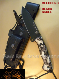 CELTIBERO BLACK SKULL KNIVES JV CDA
