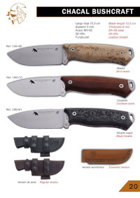COUTEAUX CHACAL BUSHCRAFT JV CDA