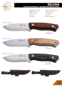 SELVAN BUSHCRAFT SCANDI KNIVES JV CDA