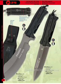 MACHETES TACTICOS K25