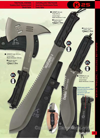 AXES AND MACHETS TACTICAL K25
