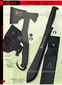 TACTICAL AXES AND MACHETS K25