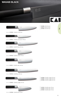 JAPANESE KNIVES WASABI BLACK Kai
