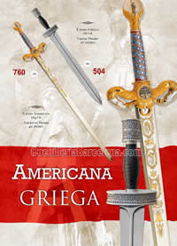 AMERICAN AND GREEK SWORDS Marto
