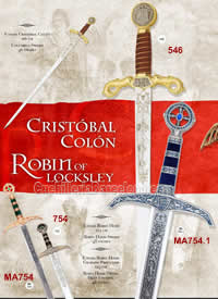 SWORDS CRISTOBAL COLON AND ROBIN HOOD Marto