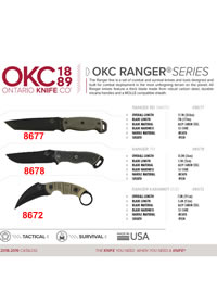 OKC RANGER SERIES TACTICAL KNIVES Ontario