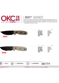 RAT SERIES TACTICAL KNIVES Ontario