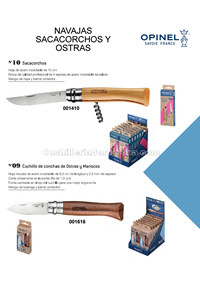CORKSCREW AND OYSTER POCKETKNIVES Opinel