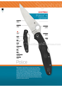 TACTICAL FOLDING KNIVES POLICE 4 Spyderco