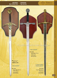 EXCALIBUR & KNIGHTS TEMPLAR SWORDS Tole10